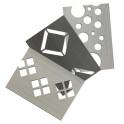 Musterstück M-tec Dekor Hart-PVC Streifen