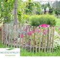 Beetbezäunung Hasel im Garten