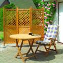 Holz Paravent Romantica - Terrassen Paravent