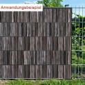 PES Sichtschutzstreifen  Holzbohle - Anwendung