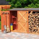 Kaminholzkombination Pforzheim groß - Holzschuppen im  Garten