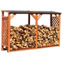 Feuerholzlagerr mit Erweiterung zum doppel Holzlager