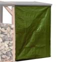 Wetterschutzplane für Kaminholzlager als Zubehör erhältlich