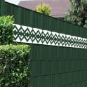 PVC Design Streifen Motiv Karo - Tape weiß| grün im Zaun