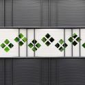 Dekorativer Hart-PVC Streifen mit Karomuster