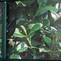 Befestigung der Sichtschutzstreifen mit Klemmschienen