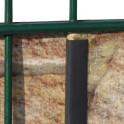Befestigung der Sichtschutzstreifen mit Klemmschienen  am Gitterzaun