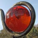 Rank - und Dekostange - Glaskugel Rot