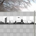 Skyline von Leipzig als Kreativstreifen