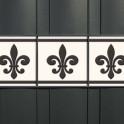 PVC Design Druck Zaunblenden Motiv Französische Lilie