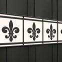 PVC Design Druck Zaunblenden Motiv Französische Lilie Im Gitterzaun