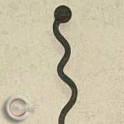 Rosenstab Snake - geschmiedet