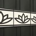 Ziermuster Lotus als Design Sichtschutzstreifen