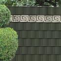 Sichtschutzstreifen M-tec Profi-line® weich-PVC anthrazit mit M-tec design Mäander