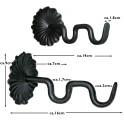 Gardinenstangenhalter - Typ Flower Maße