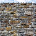 Bedruckte PVC  Sichtschutzstreifen Motiv Alte Steinmauer