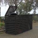 Mülltonnencontainer für drei Mülltonnen - anthrazit