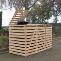 Mülltonnencontainer für drei Mülltonnen - Kiefernholz natur