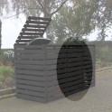 Mülltonnencontainer Erweiterung - anthrazit