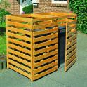 Mülltonnenbox für 2 Tonnen bis 240 Liter Sichtschutz für Mülltonnen