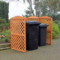 Mülltonnensichtschutzspalier - Rustica aus Kiefernholz für zwei Tonnen im Garten