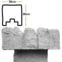 Betonzaunsystem Anfangspfostenkappe Mediterran Nostalgie betongrau 20x10x20