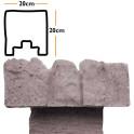 Betonzaunsystem Anfangspfostenkappe Mediterran Nostalgie grau-braun 20x10x20