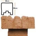 Betonzaunsystem Anfangspfostenkappe Mediterran Nostalgie sand 20x10x20