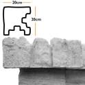 Betonzaunsystem Eckpfostenkappe Mediterran Nostalgie betongrau 20x10x20