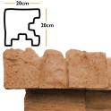 Betonzaunsystem Eckpfostenkappe Mediterran Nostalgie sand 20x10x20