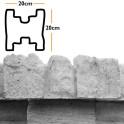 Betonzaunsystem Zwischenpfostenkappe Mediterran Nostalgie betongrau 20x10x20