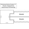 Betonpfosten doppelseitig - Betonzaun Motiv Flagstone - Maße