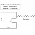 Betonpfosten einseitig - Betonzaun Motiv Flagstone - Maße