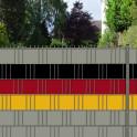 Gartenzaun mit Blickschutz in schwarz | rot | gelb
