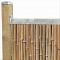 Profil für Sichtschutzmatten aus Bambus - Detail