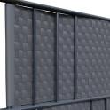Rattan Sichtschutz-Streifen in anthrazit mit Klemmschiene