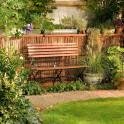 Rindenmatte Provence - im Garten