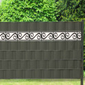 Sichtschutzstreifen mit dekorativem Spiralmuster