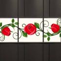 Kreativstreifen mit floralem Rosen-Motiv