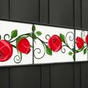 Rote Rosen als Zaunsichtschutz