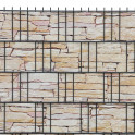 M-tec print® bedruckte Sandstein Tessin - fortlaufendes Bild