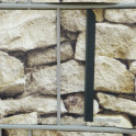 Befestigung des PVC Sichtschutzes Sandstein Toscana mit Klemmen