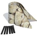 3 Zaunblendenstreifen PVC Motiv Sandstein Toscana mit Befestigungsklemmen