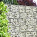 Sichtschutzzaun mit M-tec print® bedruckte Sandstein Toscana Motiv