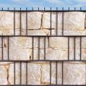 """""""M-tec print""""® Hart-PVC Streifen Sandsteinmauer Motiv im Gittermattenzau"""