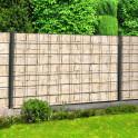 Blickdichter Sichtschutzzaun mit Motiv Sandsteinmauer