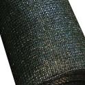 Schattiergewebe - 100% blickdicht-dunkelgrün-1,00 x 10,00 m