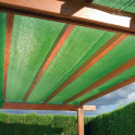 Schattiergewebe grün  - Anwendung
