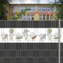 Sichtschutzmotiv School Life für Schulen