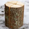 Schwedenfeuer - vorgesägter Holzscheit